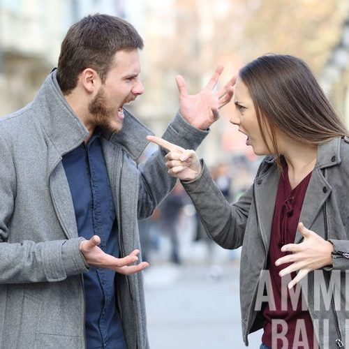 A Picture of an Angry Couple Fighting in Public.