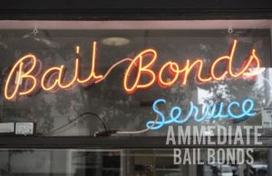 Neon Sign Advertising Bail Bonds Service